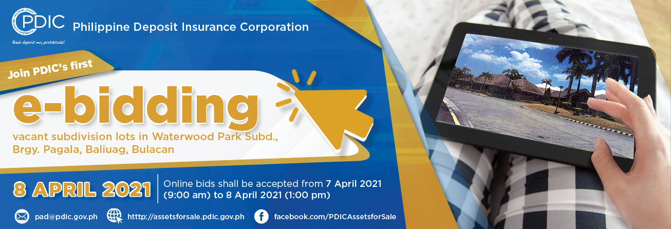 PDIC's First e-Bidding on April 8, 2021
